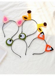 hair frog NZ - Frog Giraffe Deer Ear Headband Role Playing Hair Ornament Animal Cosplay Headwear Cute Hair Accessories Purim Party HRqf#