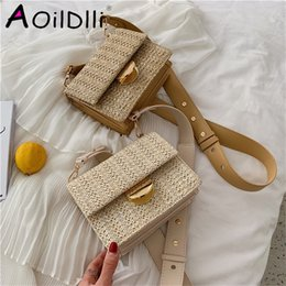 wind straw NZ - designer bagBali Bag Hand Woven Bolsa Feminina Square Bag Buckle Rattan Straw Bags Satchel Wind Bohemia Beach Bolsa Wicker Bag Bolso Paja