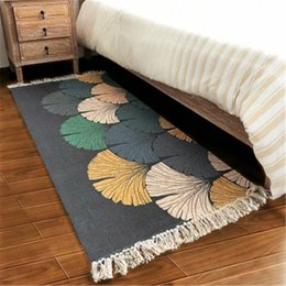 living room floor mats floral NZ - 70X160cm Cotton Creative Design Soft Carpets For Living Room Bedroom Carpet Home Rug Floor Door Mat Area Rugs Bedroom Simple Mat CrfB#