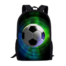 coolest backpacks NZ - FORUDESIGNS School Bags For Boys 3D Cool Football Print School Kids Bag Kindergarten Backpack Men Child Bookbag Mochila Escolar v4wC#