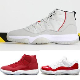 army color sports shoes UK - Designer Platinum Concord 11 shoes mens sports 11s Athletic sneakers Retro Bred Midnight Navy Gym Red Chicago fashion shoes EUR 40-47