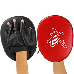 kickboxing gear Canada - 1pc Target Hook Jab Focus Punch Pad Training Glove Mitts Suitable For Thai Boxing Kickboxing Karate Taekwondo Other Martial Arts