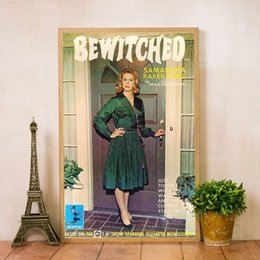 doll paintings Australia - Samantha Paper Dolls 1965 Retro Poster Canvas Painting , Bewitched Tv Show Vintage Prints Wall Art Picture for Living Room Decor