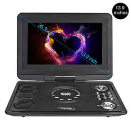 Freeshipping DVD Player Portable Car TV 13.9 Inch Big players LCD Screen For Game FM DVD VCD CD MP3 MP4 with Gamepad TV Antenna