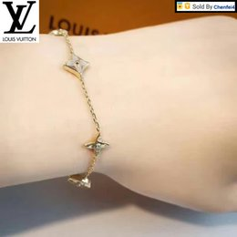 enamel gold plated bangles NZ - 522 sterling silver gold-plated badger Women Jewelry Bracelets Bangle Beaded Charm Chain Wedding Crystal pearl Bracelets