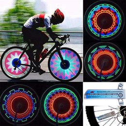leds bike wheels NZ - Bicycle Tire Wheel Signal Light 32 LEDs Colorful Rainbow Bike Spoke Flash Lamp Night Riding Safety Cycling lighting Lights