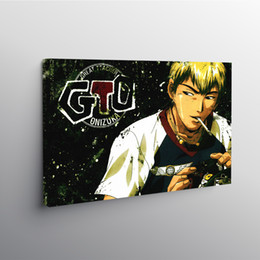 panel anime canvas prints Canada - Canvas Painting Great Teacher Onizuka Print Modular Poster Wall Art HD Pictures Japan Anime Figure Home Decor Bedroom No Frame