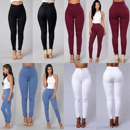 Wholesale xxl pencil for sale - Group buy 2020 Hot Selling Women s Jeans Tights High Waist Stretch Jeans Slim Pencil Pants S XXL