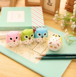 owl stationery Canada - Owl Pencil Sharpener Cutter Knife Promotional Gift Stationery GB462