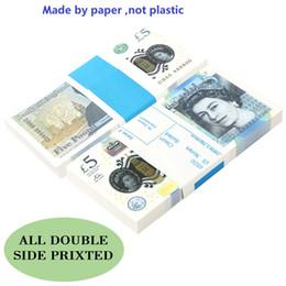 Wholesale Prop Pretend UK Movie Money Paper copy banknote face money 100pcs pack