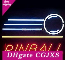 pinball signs UK - New Pinball Neon Sign Real Glass Tube Bar Club Room Handmade In The Wall Game Room