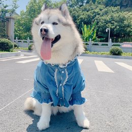 princess dog shirt UK - Meduim Large Dog Clothes Jeans Pet Coat Jacket Fashion Princess Dogs Pets Clothing for Dogs Shirt Pug Labrador Golden Retriver T200710