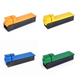 cigarette rolling machine tubes Canada - New Cigar Roller 5Color Plastic Push And Pull Design Single Tube Tobacco Maker Hand Cigarette Filter Rolling Machine Smoking Tool 2 5ds E19