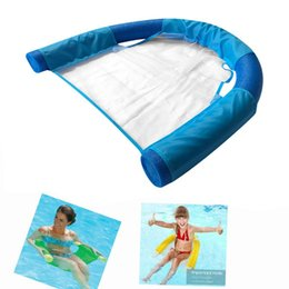 durable beds UK - Beach Swimming Seat Pool Water Relaxation Bed Floating Noodle Sling Mesh Chair Easy Carrying Swimming Durable Parts