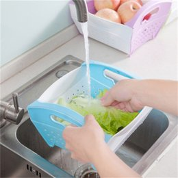 plastic vegetable storage Australia - Plastic Removable Storage Skep Hot Sale Space Saving Drain Basket Hollowed Out Design Fruits And Vegetables Baskets Convenient 7 35sg dd