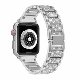 apple smart watch stainless steel band Canada - Bracelet Stainless Steel Watch Strap for Apple Watch 1 2 3 42mm 38mm Luxury Watch Band for 4 5 Bands 44mm 40mm