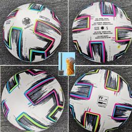 venda por atacado Top qualidade tamanho European Cup 4 bola de futebol tamanho 2020 final KYIV PU 5 bolas grânulos antiderrapante futebol transporte livre bola alta qualidade