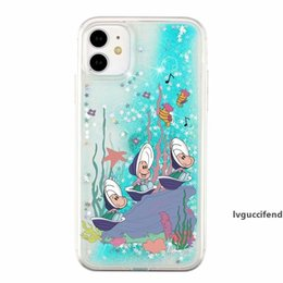 underwater case for iphone UK - Shell Liquid Case For Iphone 11 Pro Max XR XS MAX 8 7 6 Underwater World Quicksand Flower Star Glitter Hard PC Soft TPU Fashion Back Covers