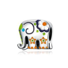 Gunine 925 plata esterlina de alta polacas encantos hermoso esmalte elefante Regalos Salud Europena DIY pulsera del encanto para las mujeres en venta