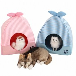 housing Australia - Cozy Ped Bed Cotton Warm Cave Pet Dog House Lovely Soft Suitable Pet Dog Cushion Cat Bed House High Quality Products Supplie FEPx#