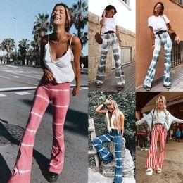 Wholesale print wide pants elastic waist resale online – Printed Flared Trousers Casual Loose Elastic Waist Gothic Clothing Sweat Pants Wide Leg Pants Streetwear Loose Casual