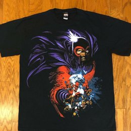 printed magnets Canada - Mint Condition Vintage Marvel X-Men Magneto Magnet T Shirt Sz S-5xl Short Sleeve T-Shirts Printed Hipster Tee Plus Size