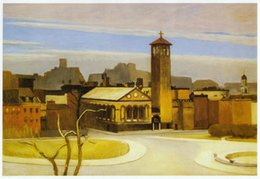 oil paint new NZ - November Washington Square New York Edward Hopper Home Decor Handpainted &HD Print Oil Painting On Canvas Wall Art Canvas Pictures 200802