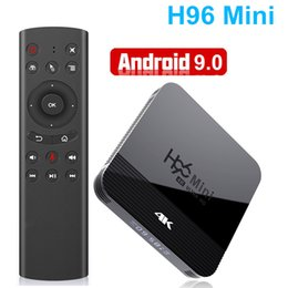 h.265 media player UK - Smart TV Box Android 9.0 H96 Mini RK3228A 5G Wifi H.265 4K Netflix 3D Media Player Quad Core Bluetooth 4.0
