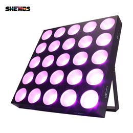 blinder stage light UK - Newly arrived LED 25x30W RGBW Blinder Matrix DMX512 Stage Effect Lighting Good For DJ Disco Party Dance Floor Clubs And Wedding Decorations