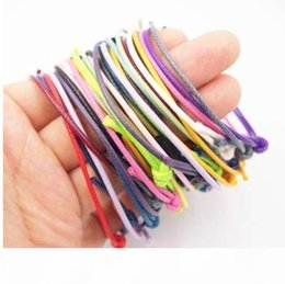 accessories for bag making Australia - 50pcs bag Korea Wax Cord Friendship Bracelet Adjustable DIY Findings for Jewelry Making Accessories Wedding Party Finding Custom