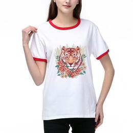 Mulheres camisetas Summer Fashion Tops Pattern Lady Tees respirável mangas curtas Tiger Impresso Tees shirt de alta qualidade T003A705 em Promoção