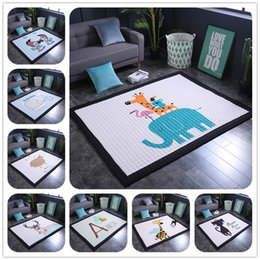 baby crawl pads UK - Baby Play Floor Mats Children's Thickened Tapete Infantil Baby Room Crawling Pad Kids Carpet Modern Home Area Rugs and carpets