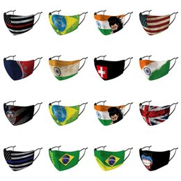 big nose UK - National Flag Names Mascarilla Individually Packaged Masks Nose Cover National Flag 50 off discount big size fashion for sale Womens little
