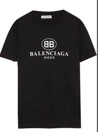 2019 Mens T-shirt T-shirt estiva Stampa Fashion Style T calda delle parti superiori della donna degli uomini 13Balenciagat-shirt Abbigliamento dsds0335 in Offerta