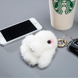 real toy cars Australia - 2020 Copenhagen Cute Fluffy Car Keychain Real Genuine Key Chains Bag Toys Doll Lovely Keyring Pendant
