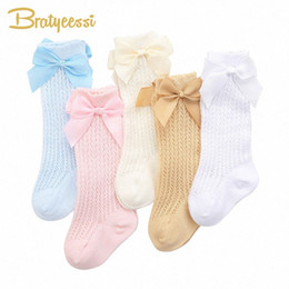 girls bow socks wholesale UK - Summer Baby Socks Sweet Big Bow Princess Newborn Socks For Girls Cute Soft Cotton Infant Kids Baby Accessories For 0 6Y Sock Shop Bran 4sdw#