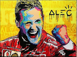 michael paintings UK - Alec Monopoly graffiti art Michael Schumacher Home Decor Handpainted &HD Print Oil Painting On Canvas Wall Art Canvas Pictures 1176