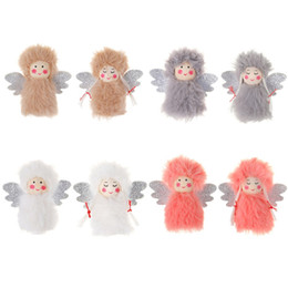 foot ornament baby Australia - Christmas Pendant Dolls Plush Angel Baby Boys Girls Christmas Tree Hanging Ornament Xmas Tree Doll Decor