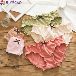 ruffled lingerie Canada - Briefs Women Sexy Ruffles Cotton Panties Sweet Pretty Girls Underwear Female Lovely Japanese Style Comfortable Lingerie Culottes
