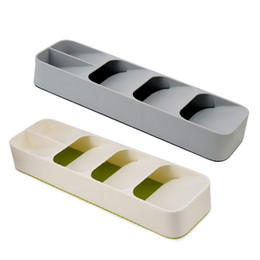 Eco-Friendly Plateau cuillère Couverts Cuisine Drawer Organizer Plateau pour cuillère couteau fourchette Vaisselle séparation Boîte de rangement Couverts Organisateur en Solde