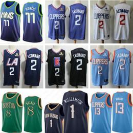 Großhandel Luka Zion Doncic Williamson Kawhi Paul 2 George Leonard Basketball Jersey Kemba greenCelticing Jayson Tatum Clippering Walker Pelicaning