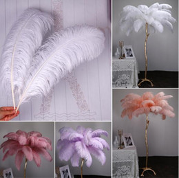 Wholesale movie card for sale – custom 2021 Marabou Feathers For DIY Bridal Wedding Crafts Millinery Card Decorate Wedding Ostrich Feathers Wedding Decoration Supplies