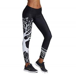 panties leggings UK - High Waist Sexy Fitness Workout Leggings Women Leggins Printed Tree Pattern Push Up Legins Panties Jeggings Activewear Ladies