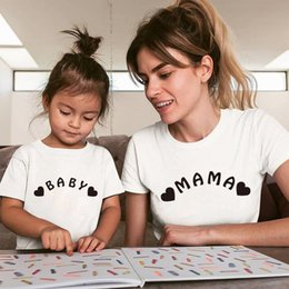 mommy daughter shirts NZ - Mother and daughter clothes Love Cotton tshirt mommy and me clothes family look baby boy summer Tops Kids mama T shirt