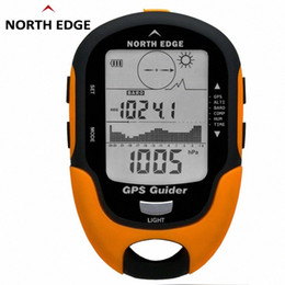 gps edge NZ - NORTH EDGE GPS Tracker Navigation Receiver Handheld USB Rechargeable With Electronic Compass For Outdoor Travel BL4c#