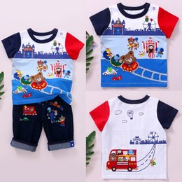 japanese summer clothing UK - New wear Japanese-style miki Children's T-shirt children's clothing zorayi boy cartoon playground embroidered short-sleeved T-shirt