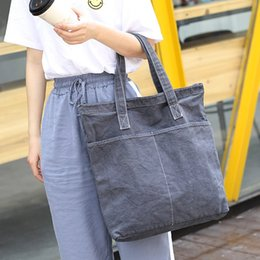 one old bags UK - Korean style simple cotton canvas women's all-match washed old shoulder Hand bag ins casual shoulder messenger bag