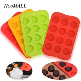 pudding silicone mold UK - Hoomall Tray 100% Food Grade Silicone Mold Chocolate 12 Grids Soft Jelly Pudding Mould Ice Cube Maker C19041301