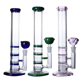 type bong percolators NZ - Honeycomb Perc Percolator bongs Water Pipe Bubbler Heady Dab Rigs Hookahs Shisha Thick Glass Water Bongs Smoke Pipe With 14mm Bowl