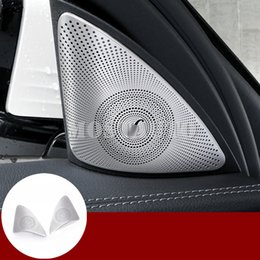 benz audio NZ - For Benz E Class W213 S213 Matte Car Door Audio Speaker Cover Trim 2017-2018 2pcs